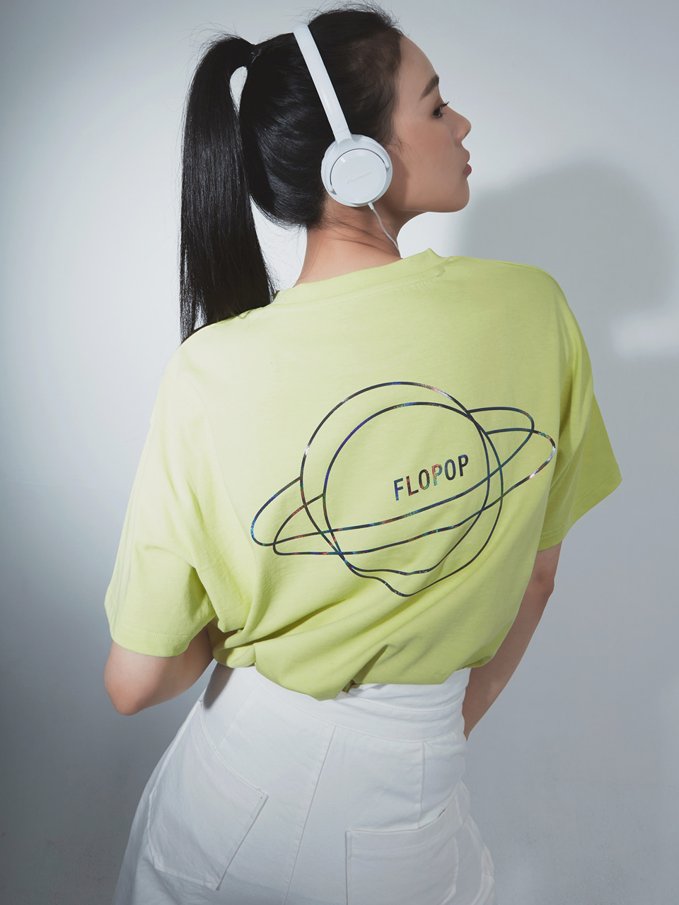 [20SS | 50%]PLANET LOGO PRINT T-SHIRT / LIME